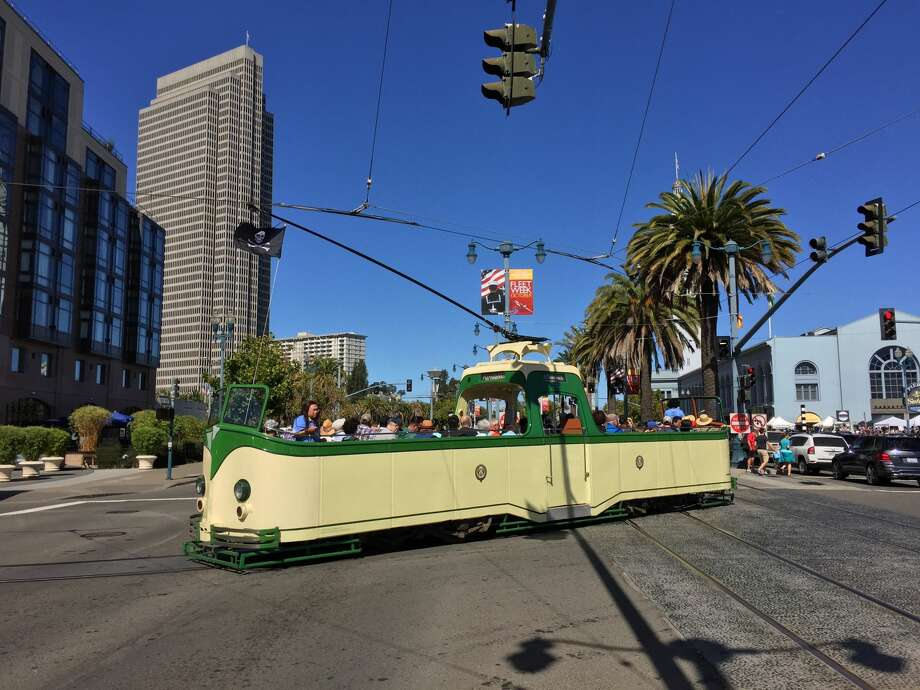 "Muni's ""boat trams"" will start cruising The Embarcadero for a limited time on Tuesdays and Wednesdays starting May 28, 2019. Photo: Courtesy Market Street Railway"