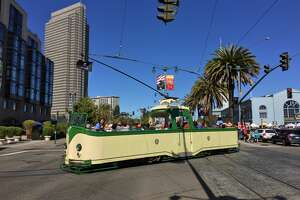 """Muni's """"boat trams"""" will start cruising The Embarcadero for a limited time on Tuesdays and Wednesdays starting May 28, 2019."""