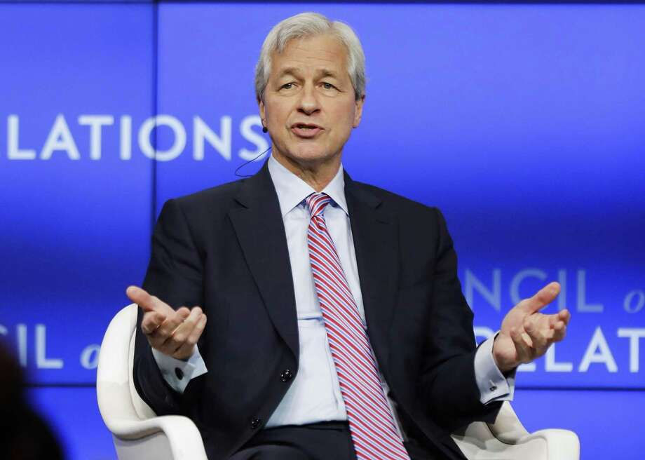 Jamie Dimon, chairman and CEO, JPMorgan Chase, speaks at the Council on Foreign Relations Thursday, April 4, 2019, in New York. JPMorgan has reportedly cut ties with Purdue Pharma. Photo: Frank Franklin II / Associated Press / Copyright 2019 The Associated Press. All rights reserved.