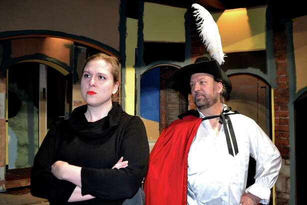 Pictured left to right: Nellie Rustick as Elvira and Roger Gaboury as Don Juan.