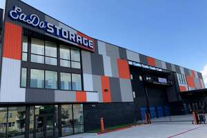 The Jenkins Organization's 850-unit EaDo Storage facility at 1025 Sampson St. pays homage to the Astros and Dynamo.