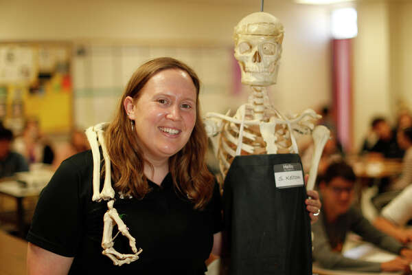Joanna Ring, photographed with her teaching assistant S. Kelton, May 22, 2019 at Midland Freshman High School. James Durbin/Reporter-Telegram