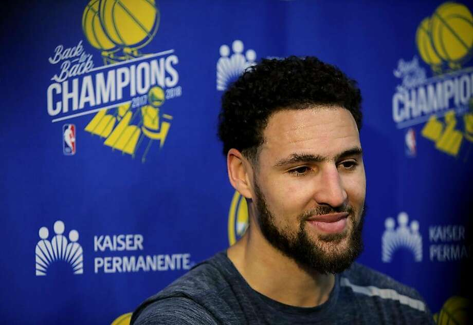 Klay Thompson, who loves a Drake hit and does not love a not Drake hit. Photo: Yalonda M. James, The Chronicle