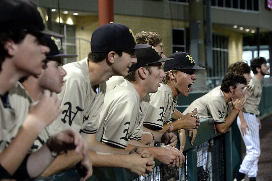 Nederland's bench reacts to a call late in the 7th that rolled back a run against Magnolia West during game 2 of their regional semifinal Thursday at the University of Houston. Photo taken Thursday, May 23, 2019 Kim Brent/The Enterprise Photo: Kim Brent, The Enterprise / BEN