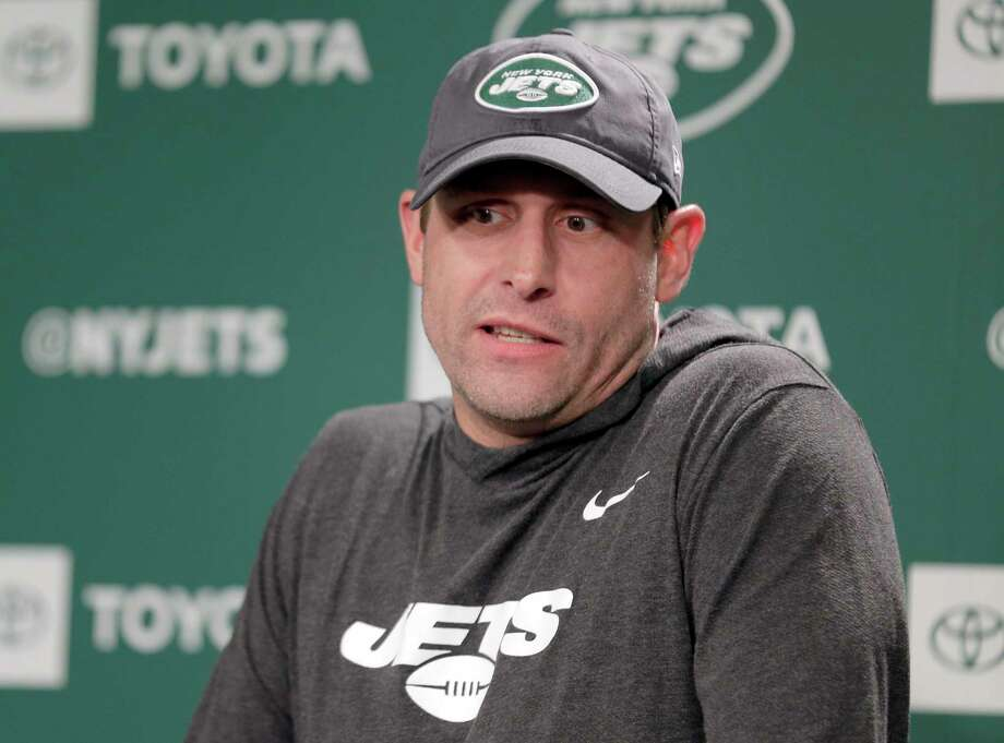New York Jets head coach Adam Gase takes questions from reporters before the NFL football team's practice in Florham Park, N.J., Thursday, May 23, 2019. (AP Photo/Seth Wenig) Photo: Seth Wenig / Copyright 2019 The Associated Press. All rights reserved.