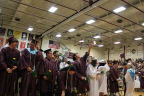 Students and family celebrates the Cass City High School graduating class of 2019.