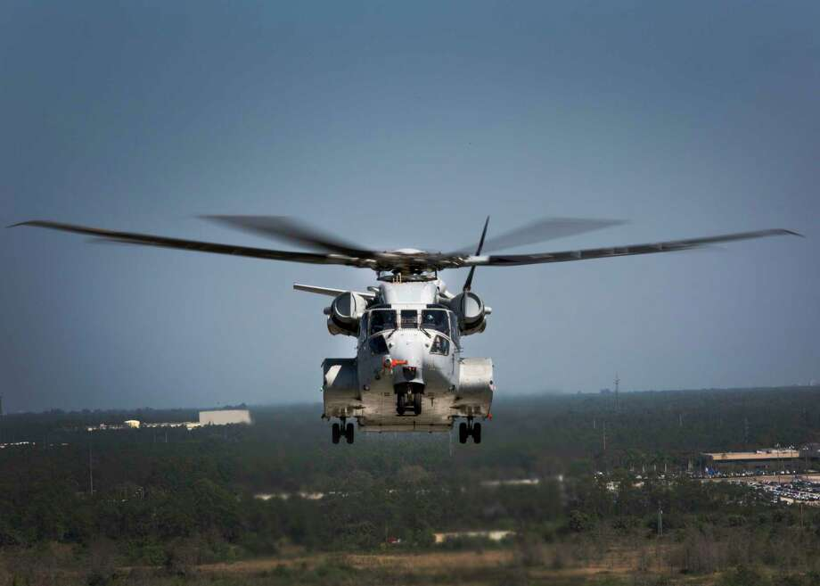 The Sikorsky CH-53K King Stallion flies a test flight in West Palm Beach, Fla. on March 22, 2017. The CH-53K will be considered the most powerful helicopter in the Department of Defense and is scheduled to completely replace the CH-53E Super Stallion by 2030. Photo: U.S. Marine Corps Photo By Lance Cpl. Molly Hampton