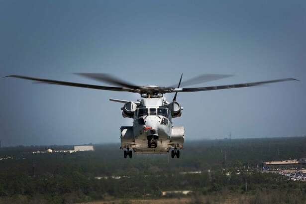 The Sikorsky CH-53K King Stallion flies a test flight in West Palm Beach, Fla. on March 22, 2017. The CH-53K will be considered the most powerful helicopter in the Department of Defense and is scheduled to completely replace the CH-53E Super Stallion by 2030.
