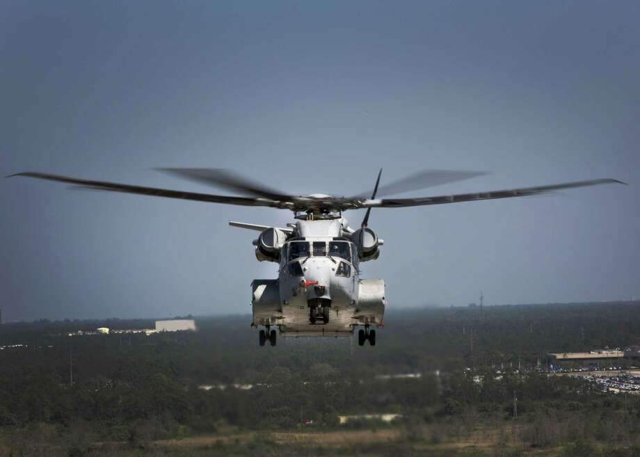 The Sikorsky CH-53K King Stallion flies a test flight in West Palm Beach, Fla. in 2017. The CH-53K will be considered the most powerful helicopter in the Department of Defense and is scheduled to completely replace the CH-53E Super Stallion by 2030. Photo: U.S. Marine Corps Photo By Lance Cpl. Molly Hampton