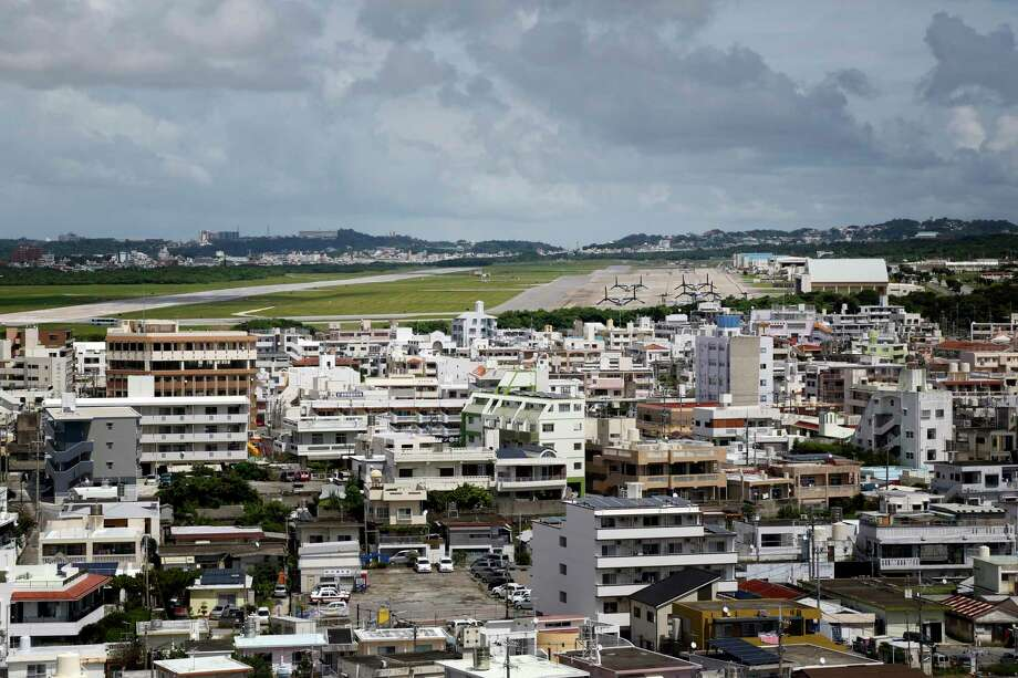 A view of Marine Corps Air Station Futenma which is located next to a residential area and has been at the center of controversy in Okinawa. Photo: Photo For The Washington Post By Kosuke Okahara. / Kosuke Okahara for The Washington Post