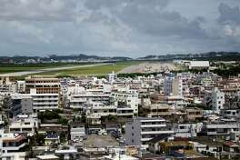 A view of Marine Corps Air Station Futenma which is located next to a residential area and has been at the center of controversy in Okinawa.
