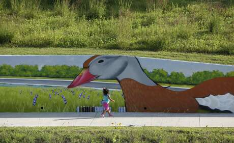 The new murals by Gelson D. Lemus (aka w3r3on3) are low enough for even the smallest viewers to enjoy.
