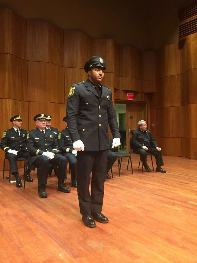 Albany police officer Elston Mackey was awarded the Combat Cross during the department's annual award ceremony on May 21, 2019. Photo: Albany Police