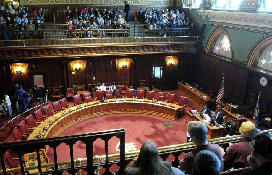 A view of the state Senate gallery in the Connecticut state Capitol building in Hartford. Photo: File Photo