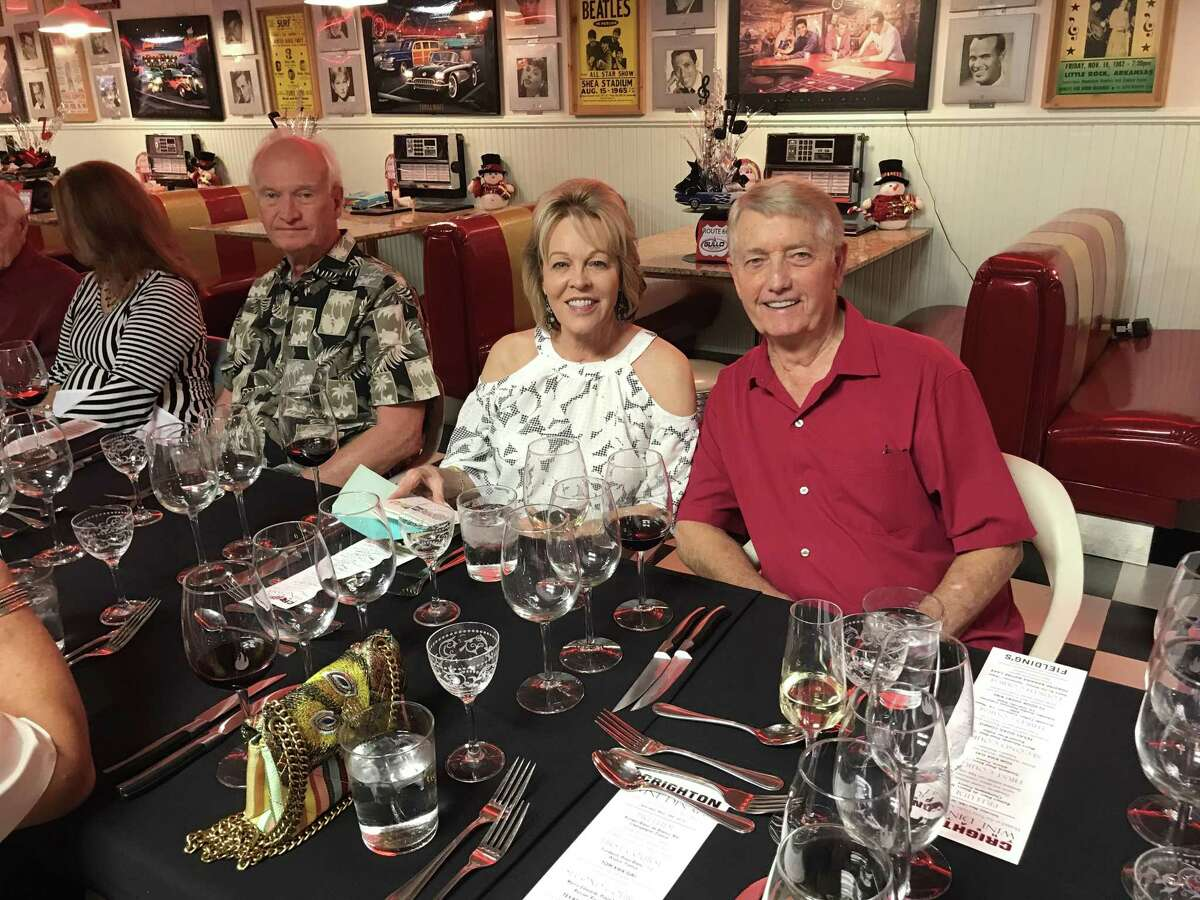 Jay and Jeane Slaymaker helped organize a winner dinner on May 18 at Tony Gullo's Auto Museum that benefited the renovation of the Crighton Theatre. The wine dinner was purchased at the March 28 Anchors Aweigh fundraiser for the Crighton Theatre. The meal and wine was provided by Fielding's in The Woodlands