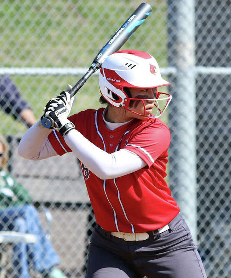 Alton senior Tami Wong saw her prep career end Thursday with the Redbirds' 3-1 Class 4A regional semifinal loss in Belleville. Wong departs as a four-year starter with a .499 batting average from 224 hits, 155 RBIs, 16 homers amd 186 runs scored. Photo: Greg Shashack / The Telegraph