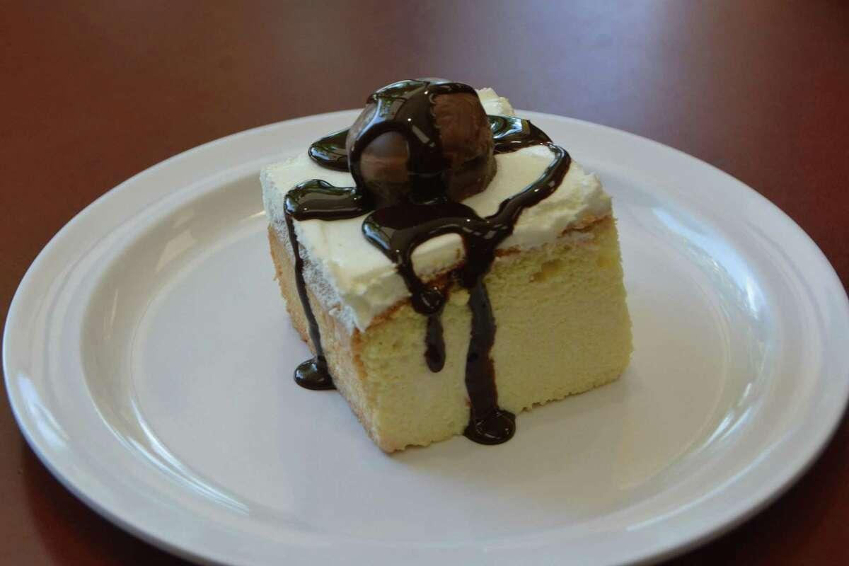 Tres Leches cake at Banana Brazil in Danbury
