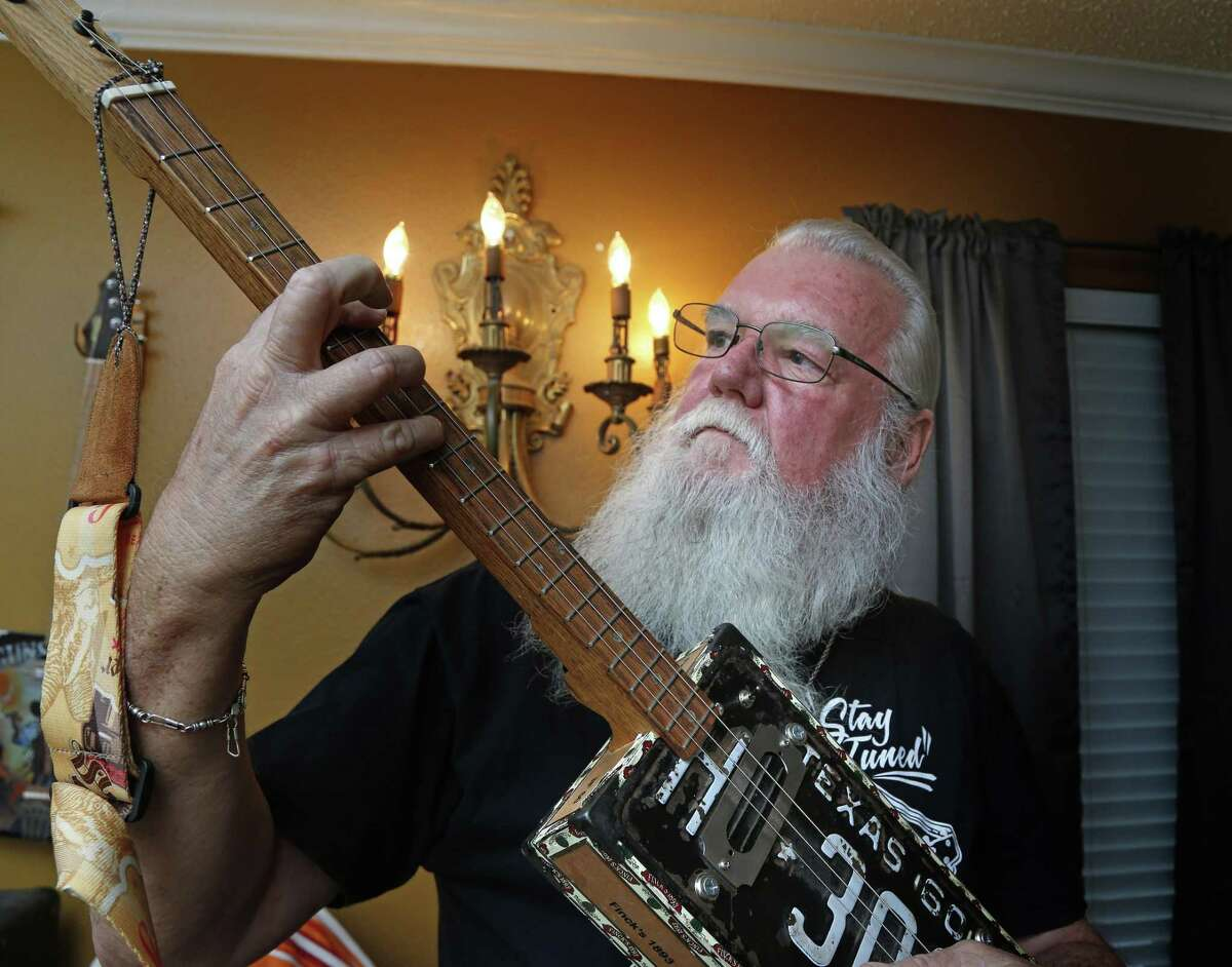 First-time participant Charlie Rehfeld is bringing his cigar box guitars to the festival grounds.