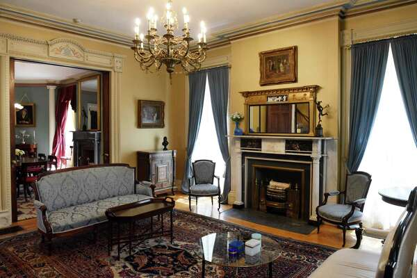 Sitting room inside the Russell Sage College president's house. (Will Waldron/Times Union)