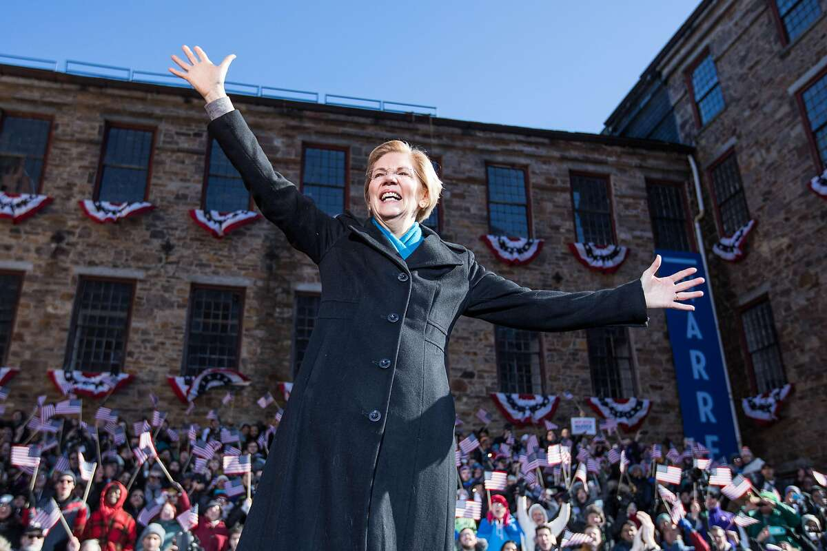 LAWRENCE, MA - FEBRUARY 09: Sen. Elizabeth Warren (D-MA), announces her official bid for President on February 9, 2019 in Lawrence, Massachusetts. Warren announced today that she was launching her 2020 presidential campaign. (Photo by Scott Eisen/Getty Images) *** BESTPIX ***