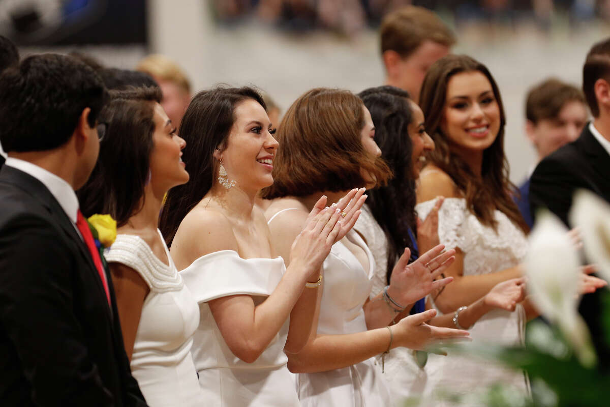 Graduates celebrate during the Trinity School commencement ceremony May 24, 2019 at Trinity. James Durbin/Reporter-Telegram