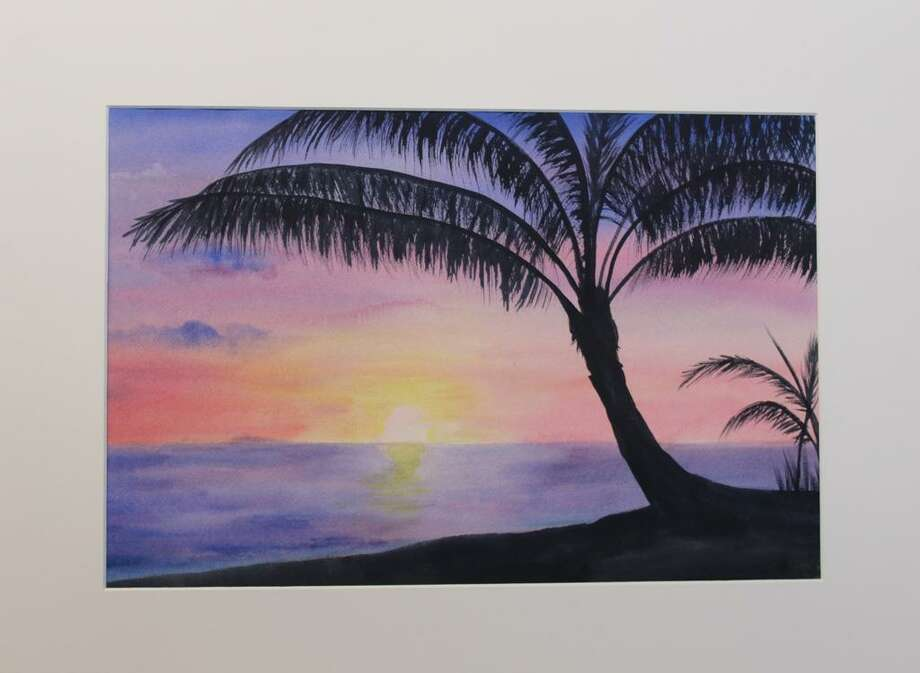 "Rosa Colon's watercolor ""Sunset at Rincon."" Photo: Stamford Art Association / Contributed Photo"