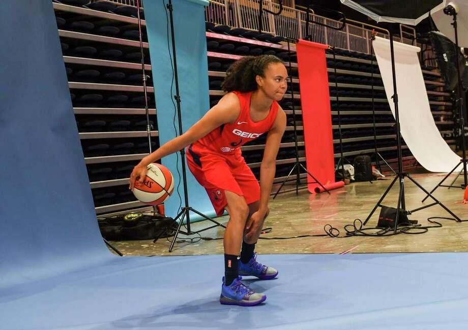 The Mystics' Kristi Toliver is heading into her 11th season as a WNBA player. Photo: Washington Post Photo By Ricky Carioti / The Washington Post