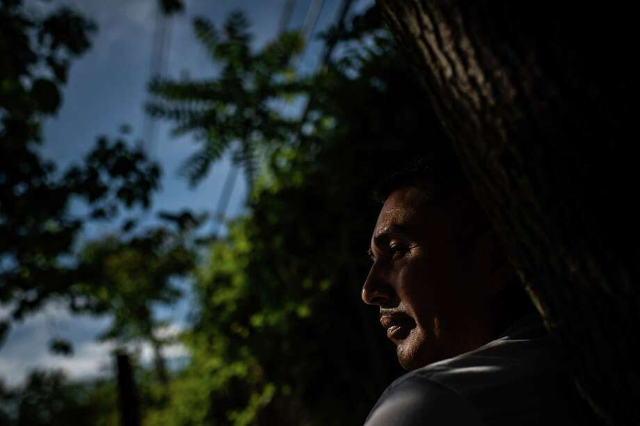Abelardo Montes, 47, near his home in Freehold, N.J. Montes was fired in April when Trump National Golf Club Colts Neck told him his work documents were invalid. Photo: Washington Post Photo By Salwan Georges. / The Washington Post