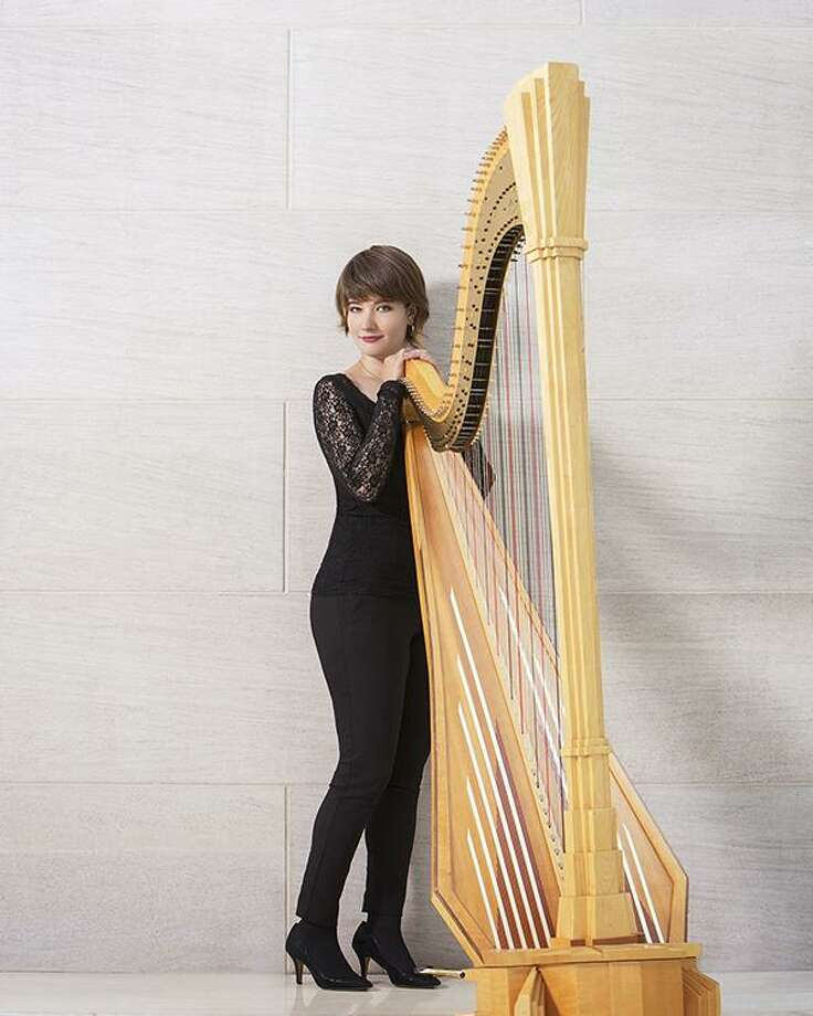 A solo concert featuring harpist Emily Levin will close out the Charles Ives Concert Series spring season on June 2 at Congregation Shir Shalom in Ridgefield. Photo: Danbury Music Centre / Contributed Photo