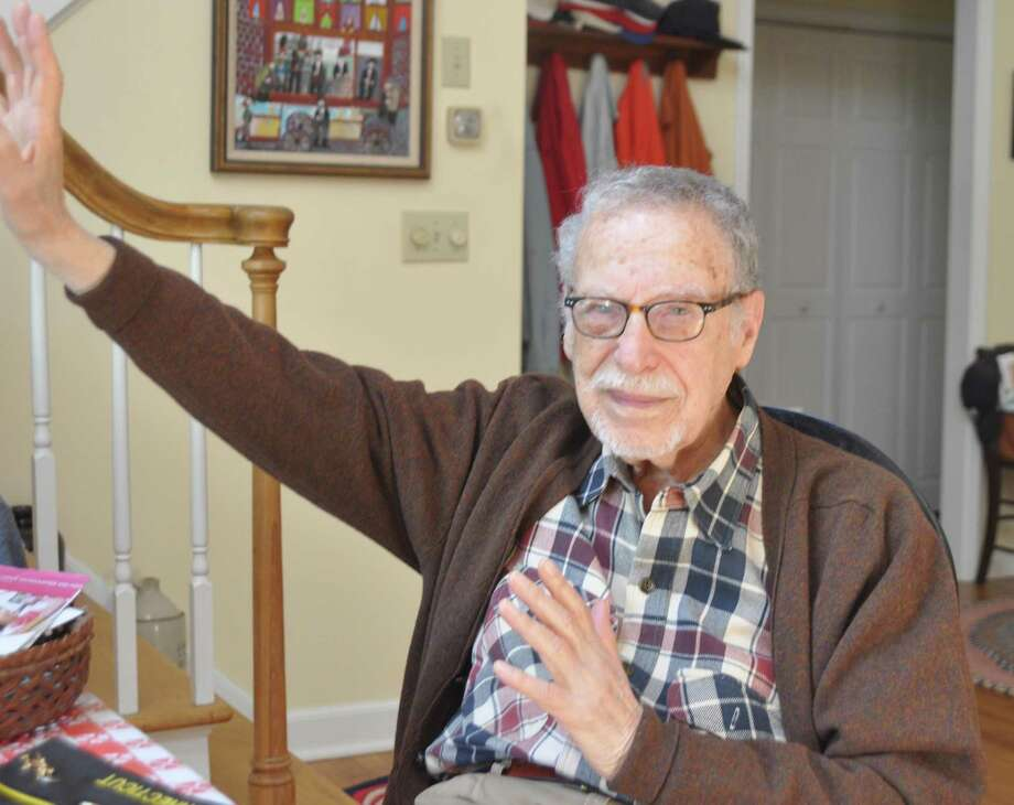 Wally Goodman, a veteran of action in the Pacific theater of World War II, will be the grand marshal of Ridgefield's 2019 Memorial Day parade. Photo: Macklin Reid /