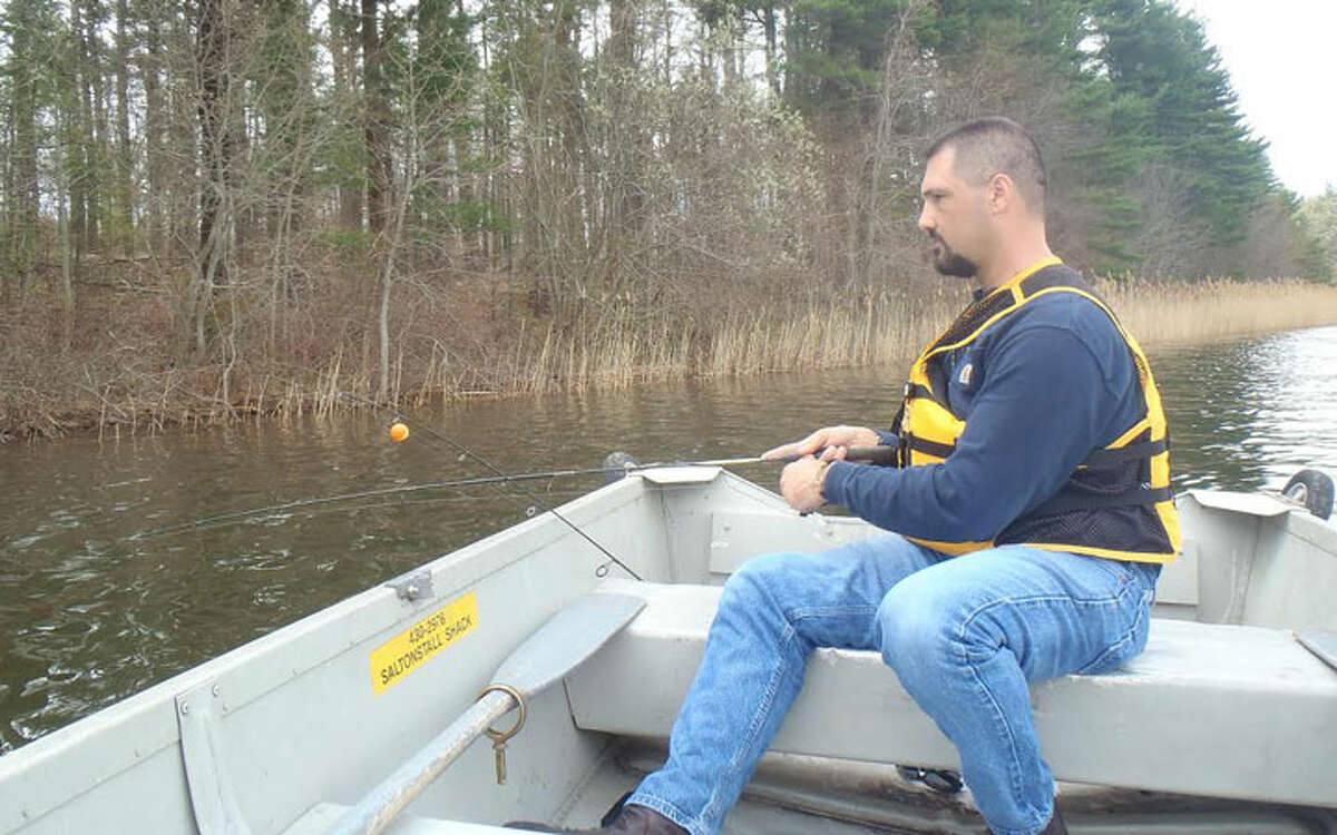 Jeffrey Yale of the Regional Water Authority fishes Lake Saltonstall during an episode of Yankee Fisherman on the HAN Network in April 2017. Yale will talk about how to access and fish the lake near New Haven on Tuesday, April 17, from 7 to 9 p.m. at Port 5, 69 Brewster Street, Bridgeport, at a meeting hosted by the Nutmeg Chapter of Trout Unlimited.