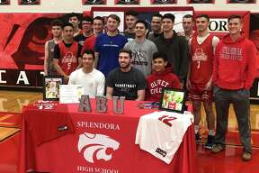 Splendora basketball player Ty Broussard signed to play for Arlington Baptist University back in April.