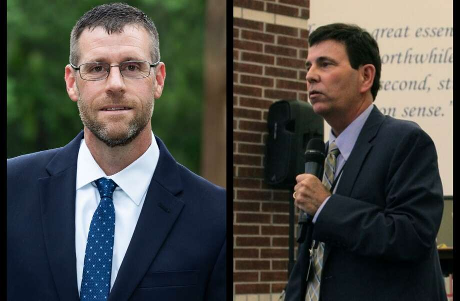 (left) Terry Perkins has been selected as Humble ISD's new deputy superintendent. (right) Roger Brown will retire from Humble ISD at the end of the school year. Photo: Left: Courtesy-Humble ISD Right: Kaila Contreras
