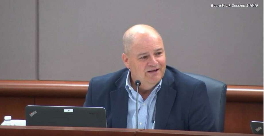 Mark Henry during the latest work session for the CFISD board of trustees. Photo: CFISD