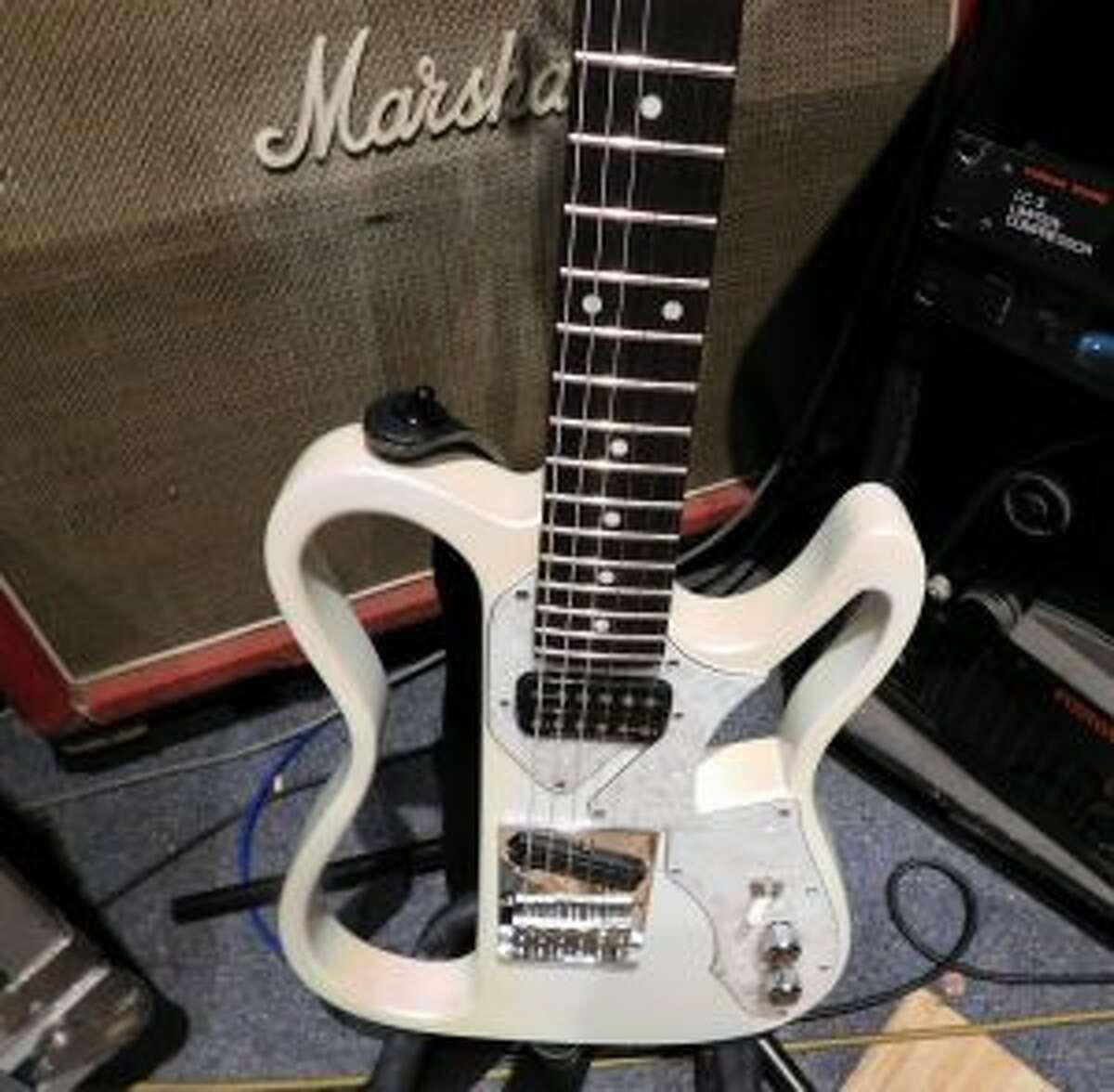 Wahlberg's custom made guitar. Brad Durrell photo