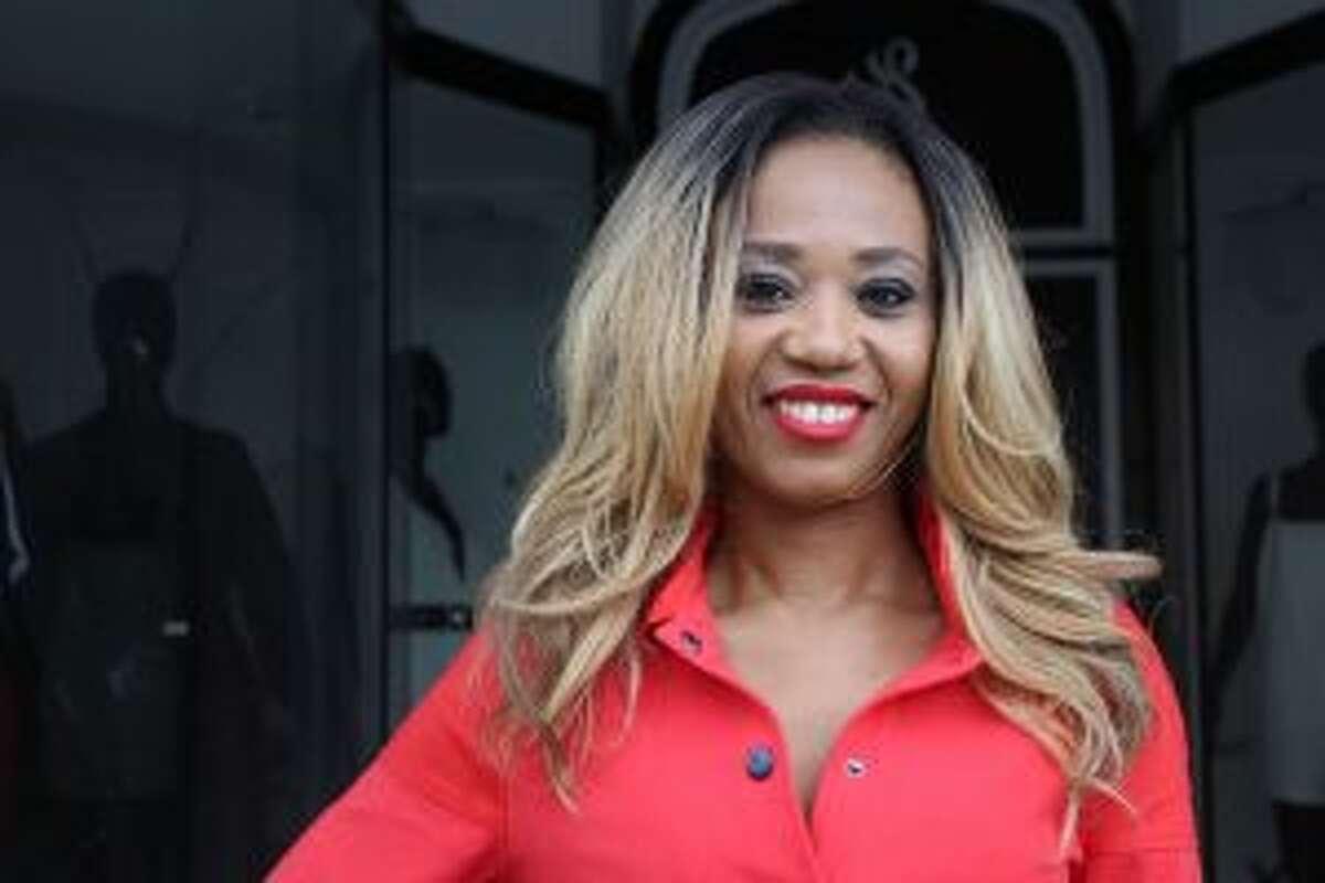 Agathe Likoba, founder of Likoba a designer jumpsuit line for women in Derby.