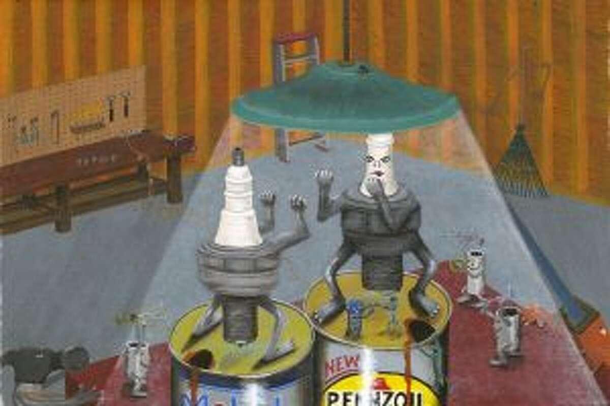 Spark Plug Battle by Mark Despres. - Courtesy of Jeffrey Greene.
