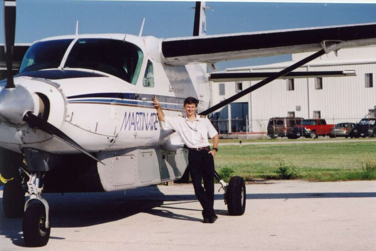Eric Bishop, 58, was an avid pilot and flew for cargo companies throughout his life. Now he says, due to the injuries from the crash, he can't even sit in a cockpit, let alone fly.