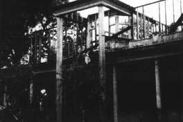 A bare skeleton of the second floor and the outside of the first floor are all that remained of the Crighton House in May 1964. It was on the corner of Main and Phillips streets.