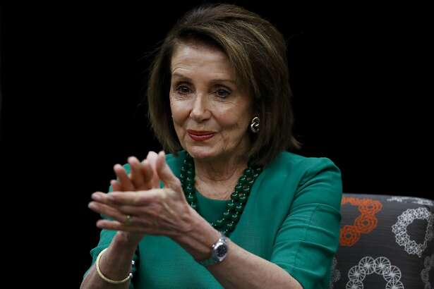 Speaker of the House Nancy Pelosi, D-Calif., applauds during a panel discussion at Delaware County Community College, Friday, May 24, 2019, in Media, Pa. (AP Photo/Matt Slocum)