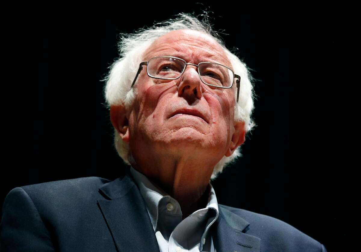 Vermont Sen. Bernie Sanders appears at a campaign rally for Rep. Barbara Lee at the Berkeley Community Theater in Berkeley, Calif. on Saturday, Oct. 27, 2018.