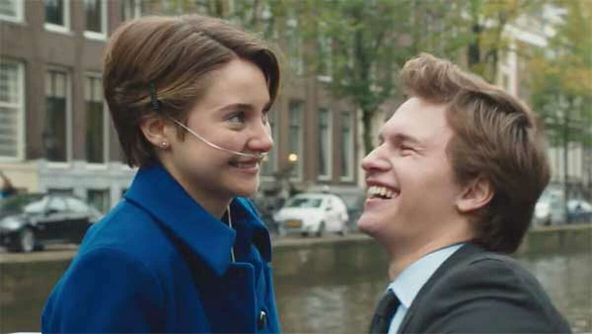 Shailene Woodley and Ansel Elgort in The Fault in Our Stars.