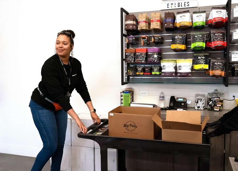 Brittany Moore is co-owner of the Blunts and Moore cannabis dispensary, one of Oakland's businesses benefiting from the city's marijuana equity program. Photo: Paul Kuroda / Special To The Chronicle