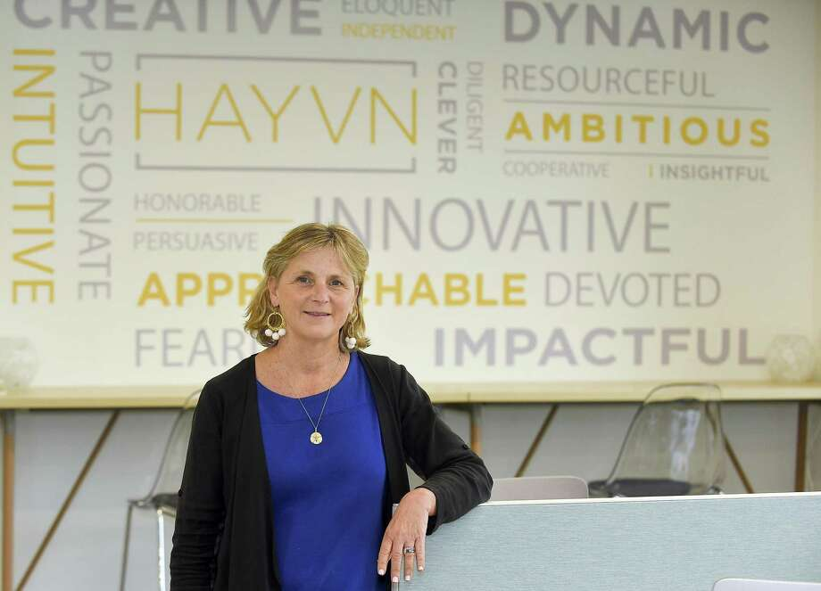 Felicia Rubinstein is the founder of the new women-focused co-working center, Hayvn, which is based at 320 Post Road in Darien, Conn. Photo: Matthew Brown / Hearst Connecticut Media / Stamford Advocate