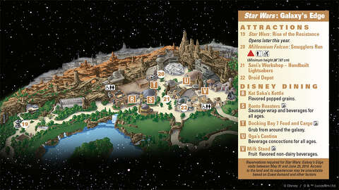 Disneyland's new park map shows scale of massive Star Wars: Galaxy's