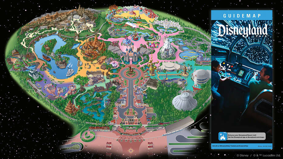 A new Disneyland park map shows details and size of new Star Wars: Galaxy's Edge. Photo: Disney Parks / Lucasfilm