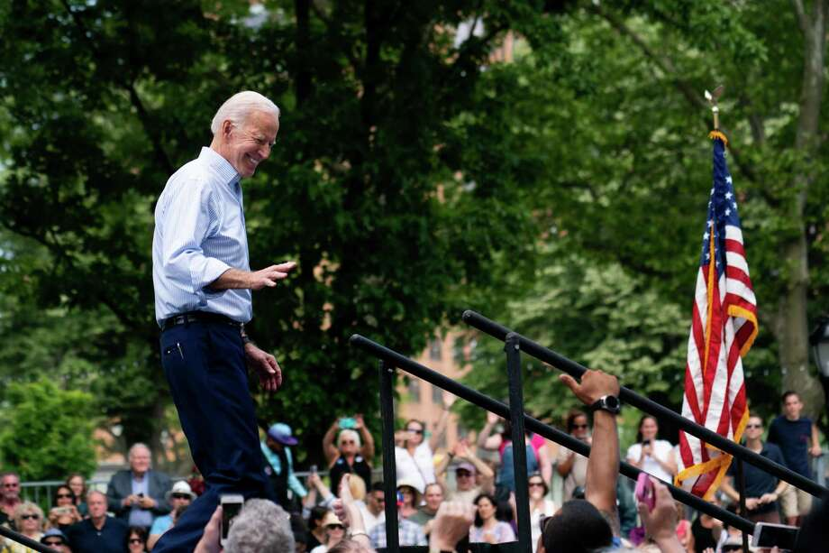 Former Vice President Joe Biden during a rally kicking off his presidential campaign in Philadelphia, May 18, 2019. His polling indicates a rationality in the Democratic electorate. Photo: ERIN SCHAFF /NYT / NYTNS