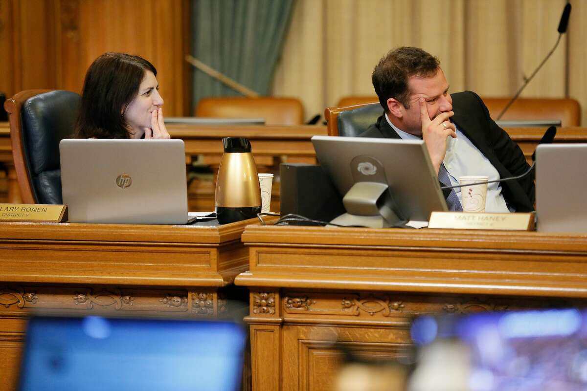 District 6 supervisor Matt Haney during a committee meeting at City Hall Thursday, May 16, 2019, in San Francisco, Calif. The S.F. Government Audit and Oversight Committee discussed ordinance that would close the city's juvenile hall by the end of 2021.