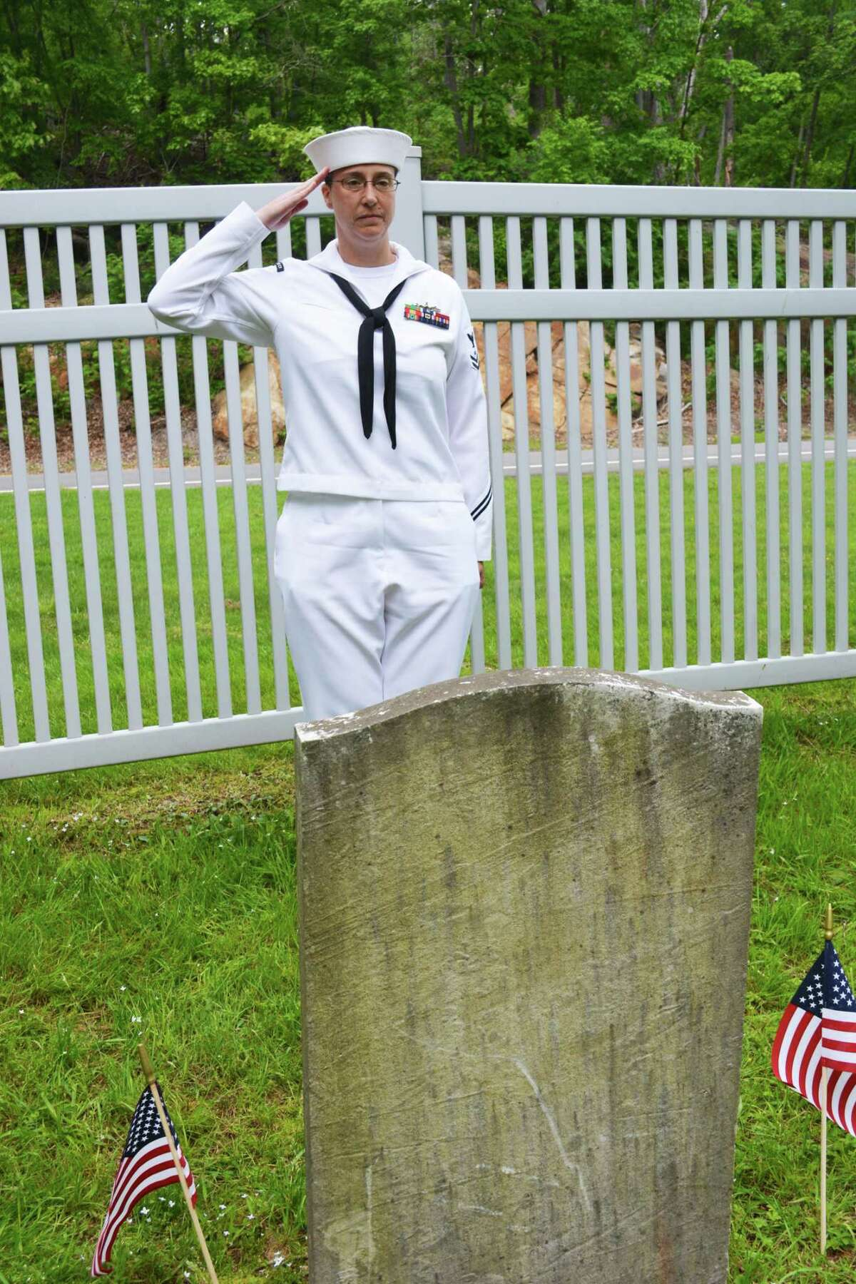 A special blessing was offered Friday in Maromas Cemetery on Aircraft Road at the gravestone of Pvt. Daniel Otis, the city's youngest service member. He left his family farm in Maromas in August 1862 to serve in Company B at 15, saying he was 18.