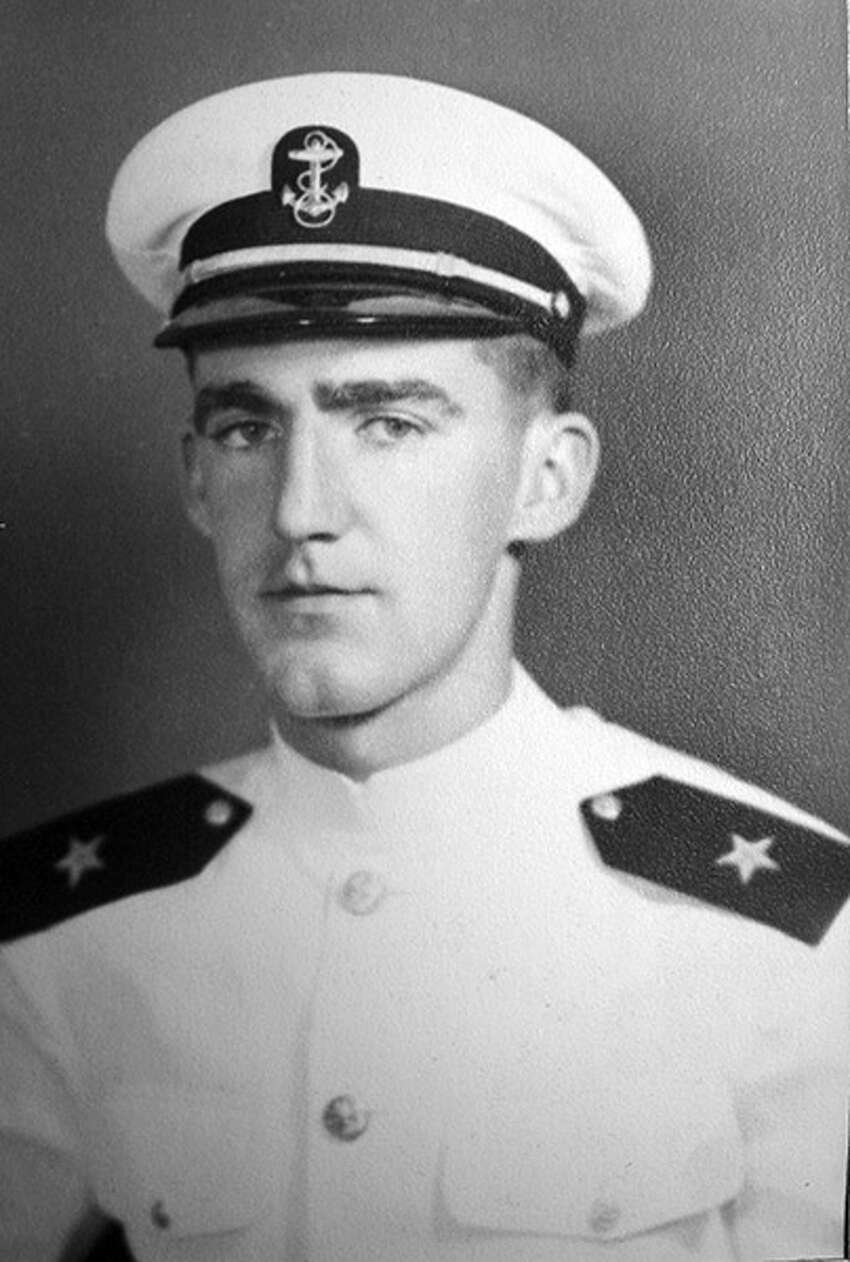 2nd Lt. John McGrath's U.S. Navy cadet photo. The Troy native's aircraft went down off the coast of Japan during World War II and he is listed as missing in action.